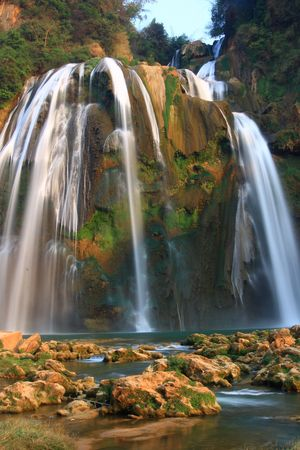 Magnificent waterfall photo