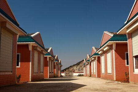 row house: A line row house Stock Photo