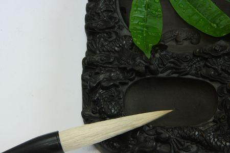 inkstone: Chinese calligraphy tool——brush and inkstone