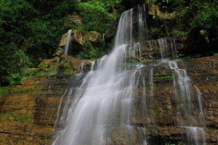transient: beautiful waterfall Stock Photo