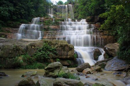 Beautiful streams and waterfalls photo
