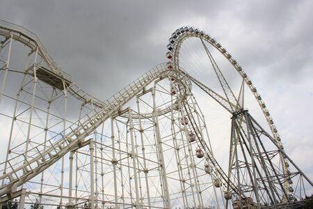 Roller coaster and Ferris wheel Stock Photo - 5418772