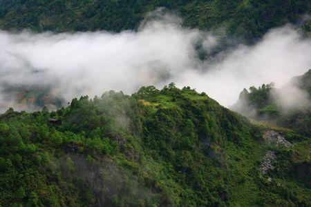 diffuse: Diffuse cloud mountain Stock Photo