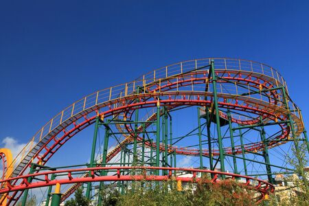 Amusement Park Roller Coaster photo