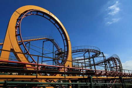 Amusement Park Roller Coaster Stock Photo - 5867661
