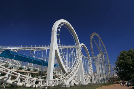 Amusement Park Roller Coaster