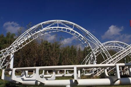 Amusement Park Roller Coaster photo