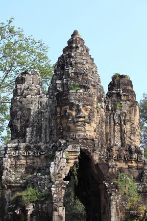 smiling buddha: Bayon Temple at Angkor Thom, Siem Reap Cambodia