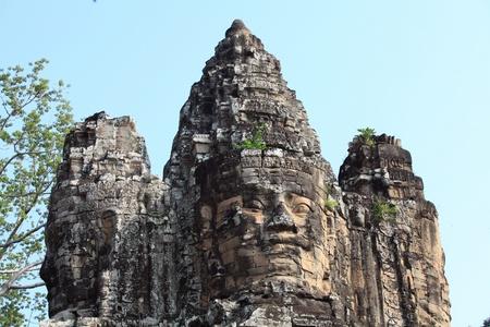 Bayon Temple at Angkor Thom, Siem Reap Cambodia Stock Photo - 9508245