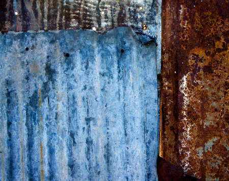 Vintage metal background, weathered galvanized steel in multi-colors