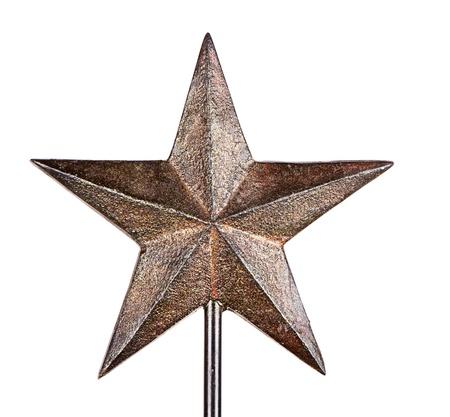 estrellas de navidad: Rústico Estrella de Navidad árbol Topper, aislado en blanco
