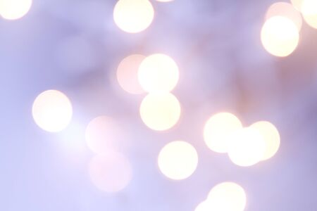 Christmas light bokeh in shades of purple photo
