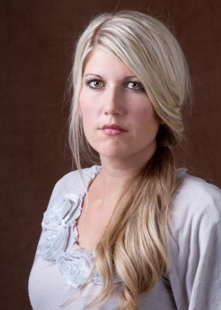 Portrait of a beautifu middle aged 30- 40 year old woman Foto de archivo