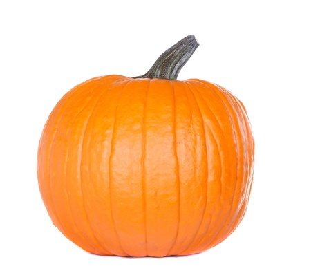 Isolated pumpkin on white Stock Photo