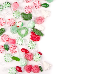 Christmas candy on a white background photo