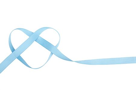 blue ribbon in the shape of a heart isolated on white Stock Photo - 17194437