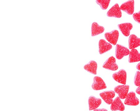 candy hearts: Heart shaped candy  isolated on white
