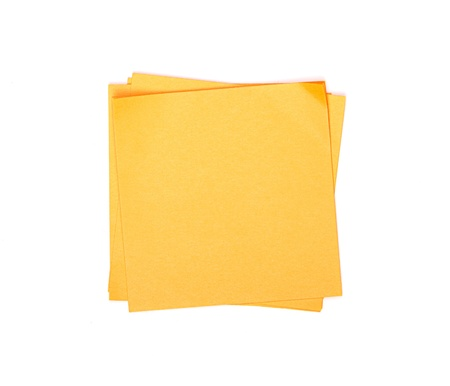 paper pin: orange sticky note on white background