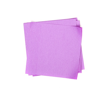 paper pin: purple sticky note on white background
