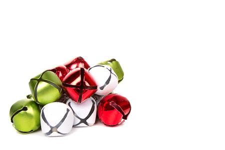 jingle bell: Christmas jingle bells on a white background