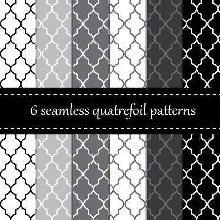 grey pattern: Twelve seamless geometric patterns   Illustration