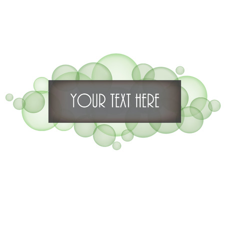 layered sphere: Green bubbles with box for text on a transparent background Illustration