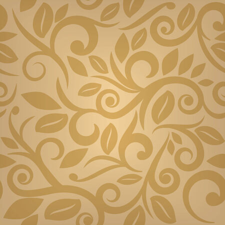 yellow seamless floral background  Vector