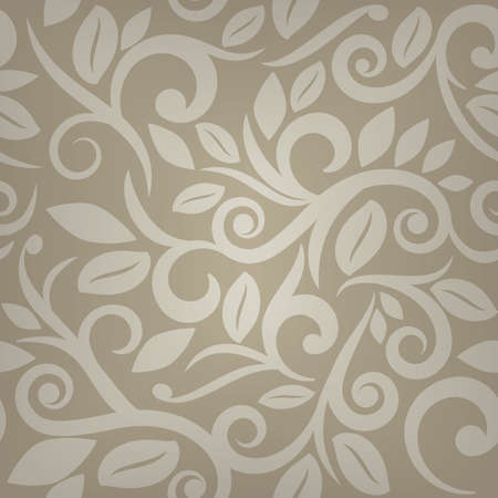 Tan beige or cream floral seamless background   Illustration