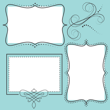 Retro design template with two 4x6 transparent frames for your events, scrapbooking or invitation designs vector format Stok Fotoğraf - 27747465