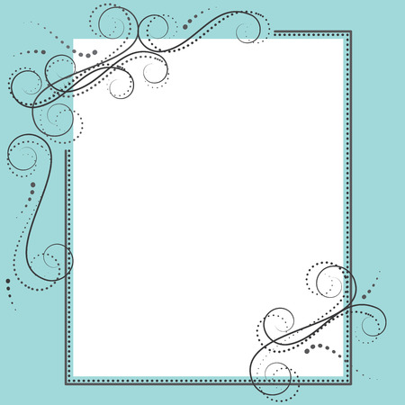 Retro design template with 8x10 frame for your events, scrapbooking or invitation designs vector format Illustration