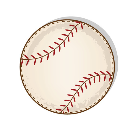 taped: aged vintage baseball vector on a transparent background
