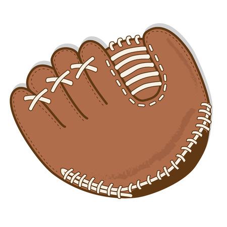 guante de beisbol: Guante de b�isbol o un guante vector sobre un fondo transparente