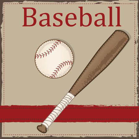 Baseball Und Bat Mit Amerikanischen Patriotischen Banner Und Frame ...