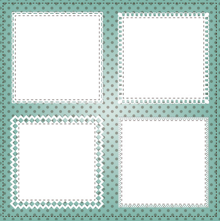 label frame: Vintage square lace frame layout Illustration