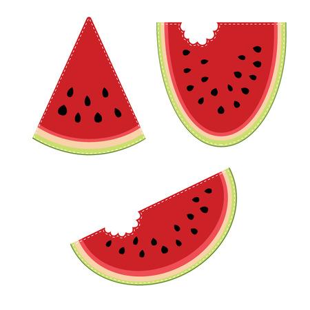 Groep van drie plakjes watermeloen Stockfoto - 29793235