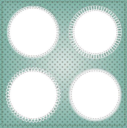petoncle: Cadre de cercle de dentelle vintage disposition