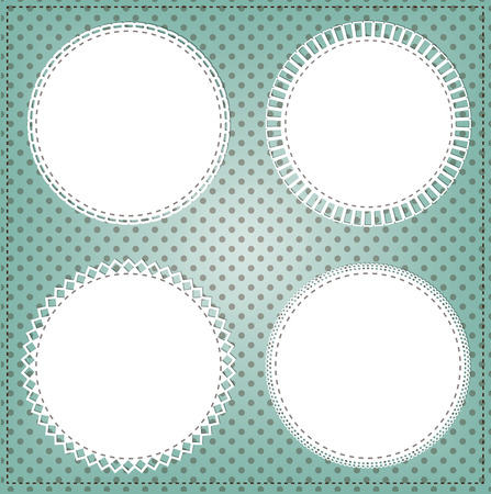 scallops: Vintage lace circle frame layout