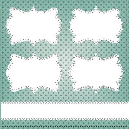 teal: Vintage lace frame layout