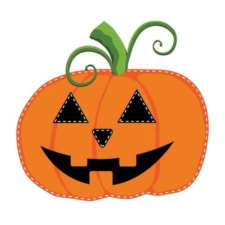 carved pumpkin: jack o lantern or carved pumpkin on a transparent background, vector format Illustration