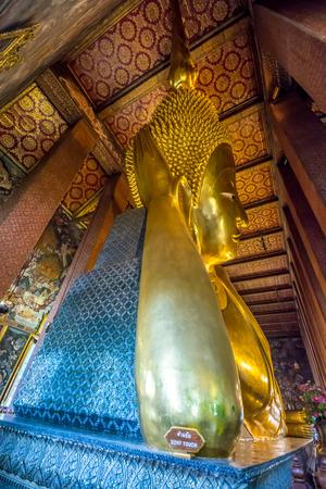 po: RECLINING BUDDHA AT WAT PO, BANGKOK THAILAND