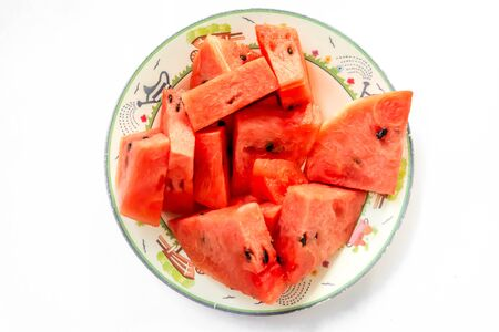 juicy: Juicy watermelon on served. Stock Photo