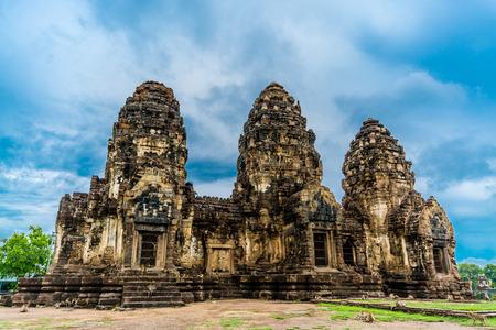 sam: Pra Prang Sam Yod a Historical castle,Lopburi Thailand.