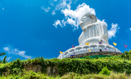 Image of Big Buddha on the mountain in Phuket