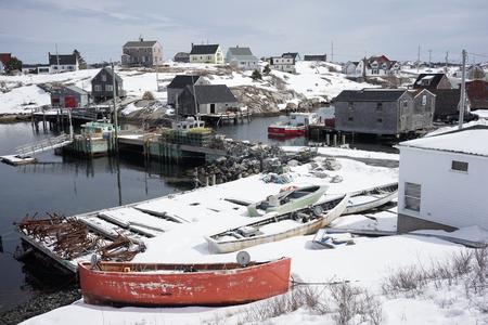 Peggys Cove in winter