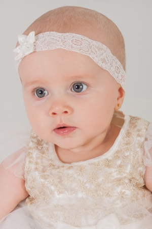 Portrait of a 5 month old baby photo