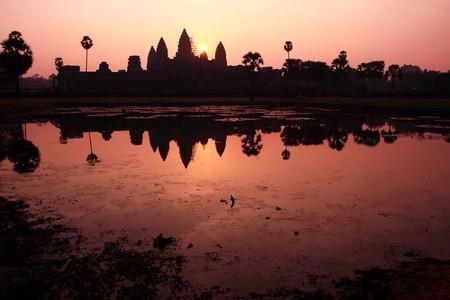 mekong: Angkor Wat Temple In Summer Sunrising, Siem Reap-Cambodia