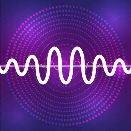 waveform: sound and audio waveform design background, vertor sound wave