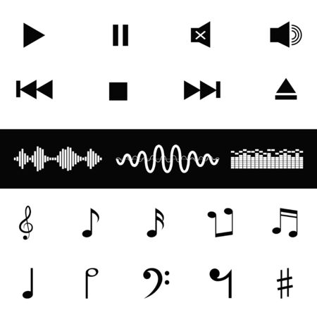 sound waves: sound control music notes and sound waves icon