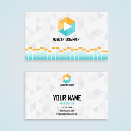 personalausweis: Musik Unterhaltung Name Karte Vorlage, Handelsname-Karten Design-Set