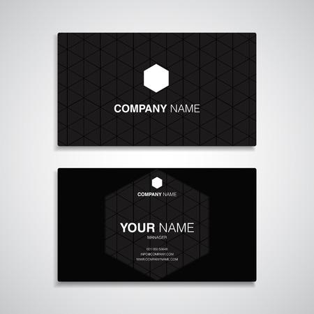 visit: business card name black template set, card name simple